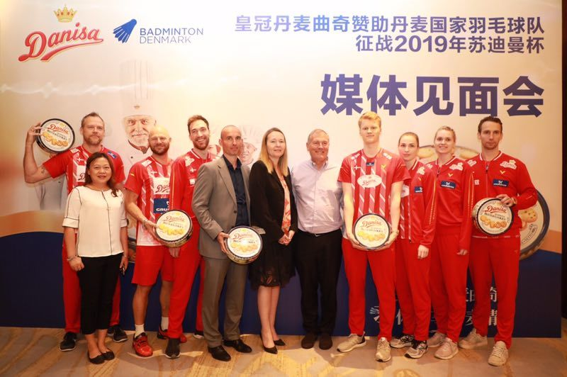 Danisa Butter Cookies Support Denmark Badminton National Team